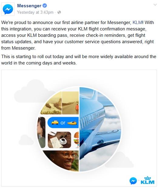 facebook bot KLM