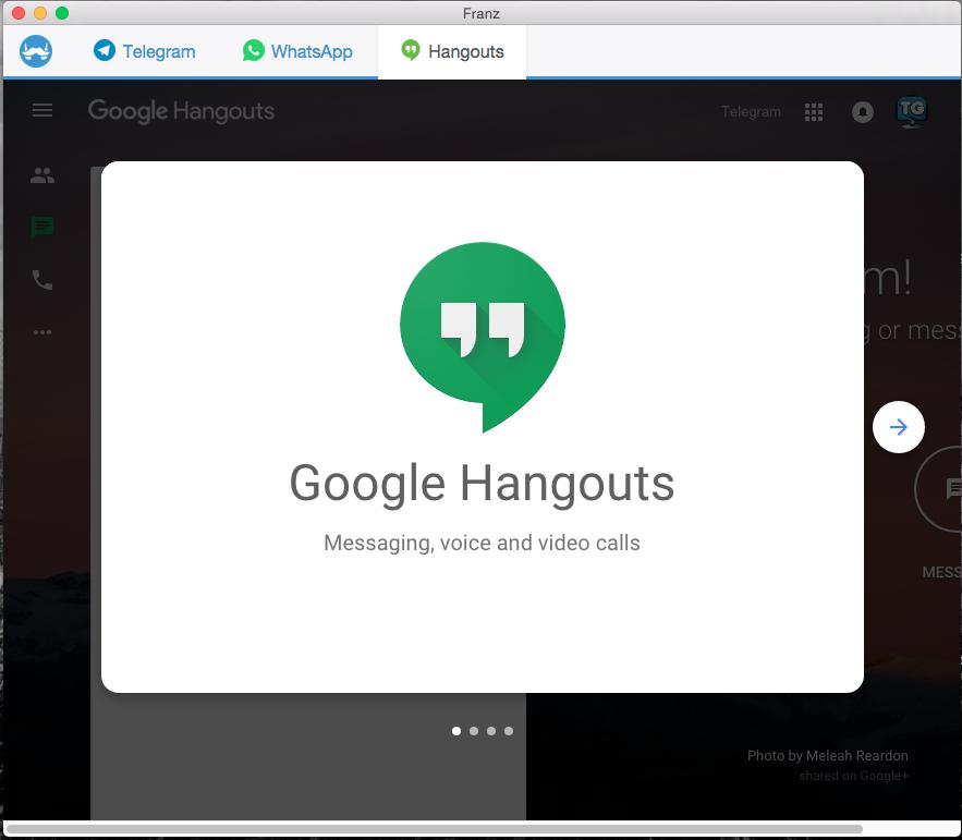 Franz: Messenger for Telegram, Whatsapp and other IM
