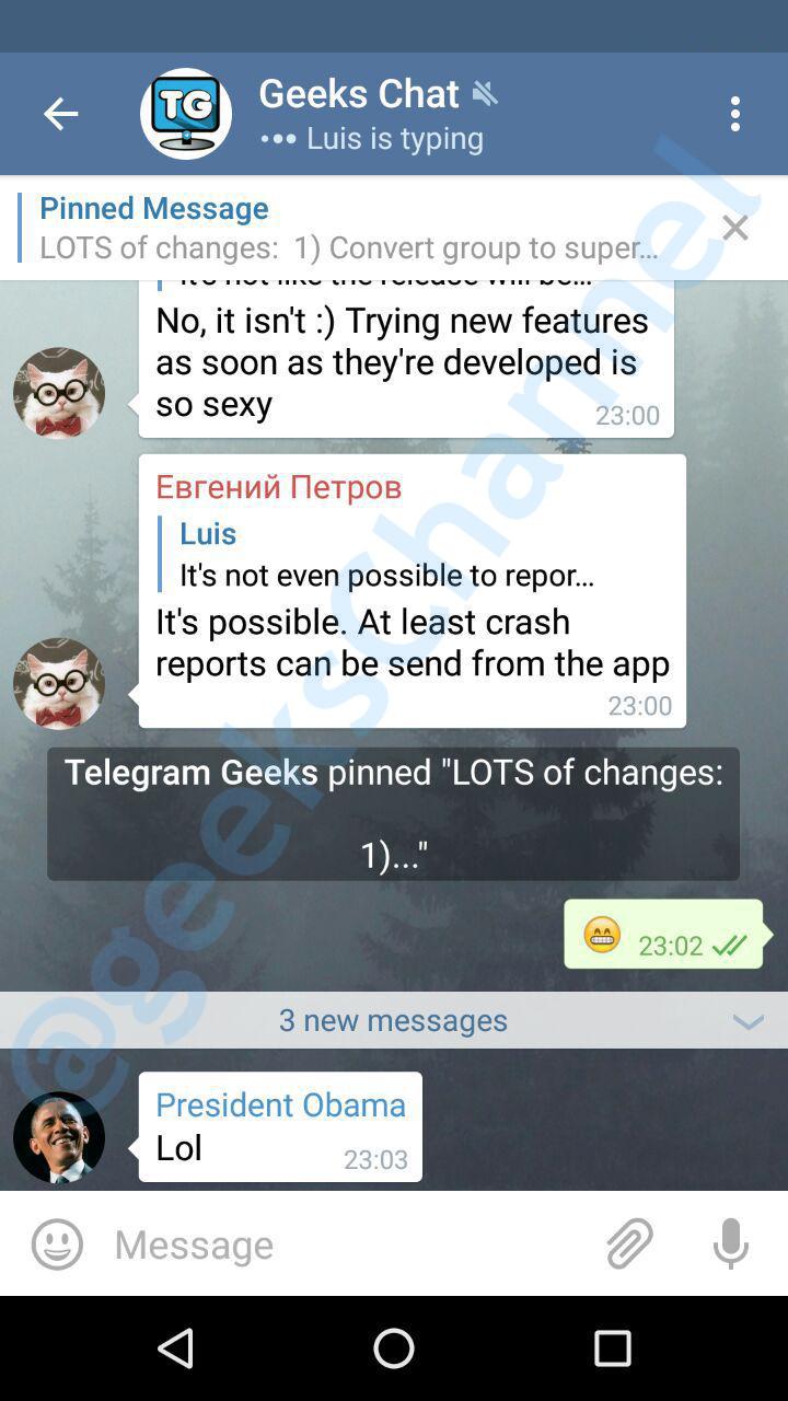 Telegram 3 7: Improved supergroups and more! | Telegram Geeks
