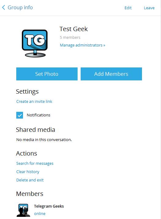 telegram group settings upgrade