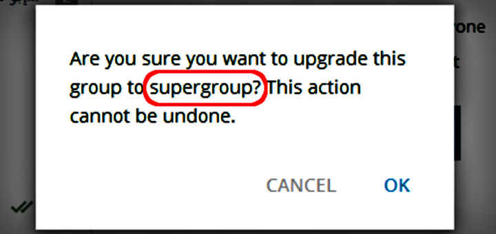Telegram Hack: How-to upgrade groups to supergroups