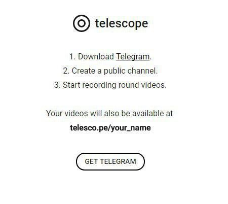 telegram telescope